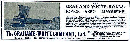The Grahame-White-Rolls-Royce Aero Limousine