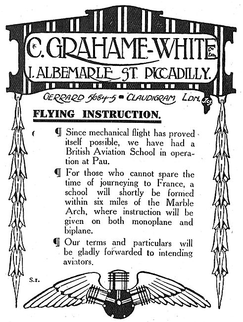 Learn To Fly At The Grahame-White School At Pau