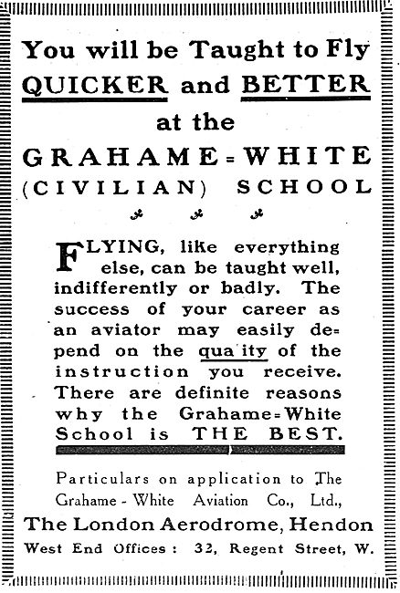 The Grahame-White Civilian School Of Flying Hendon
