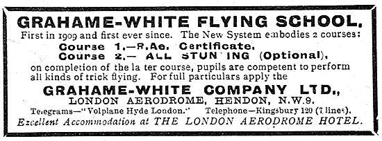 The Grahame-White Flying School London Aerodrome Hendon