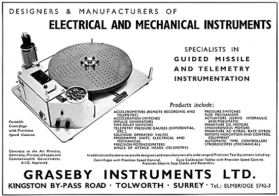 Graseby Instruments For Guided Missiles & Telemetry