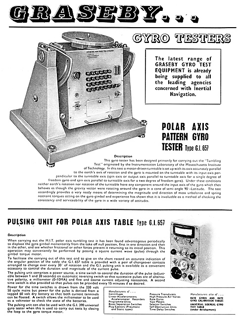 Graseby Gyro Test Equipment 1959