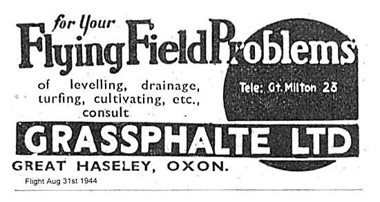Grassphalte Solves Flying Field Problems