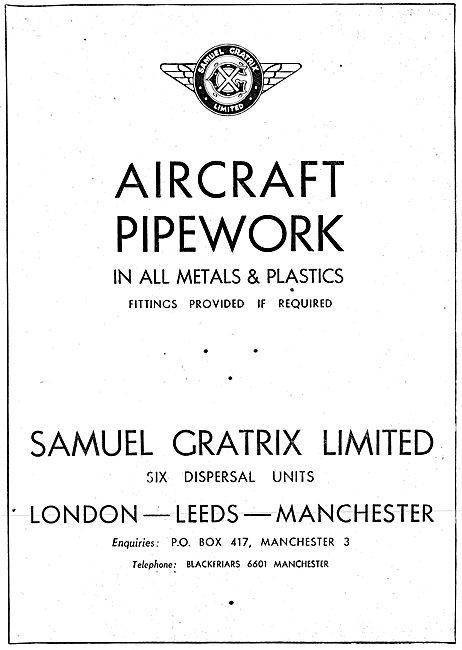 Samuel Gratrix Aircraft Pipework In Metals & Plastics