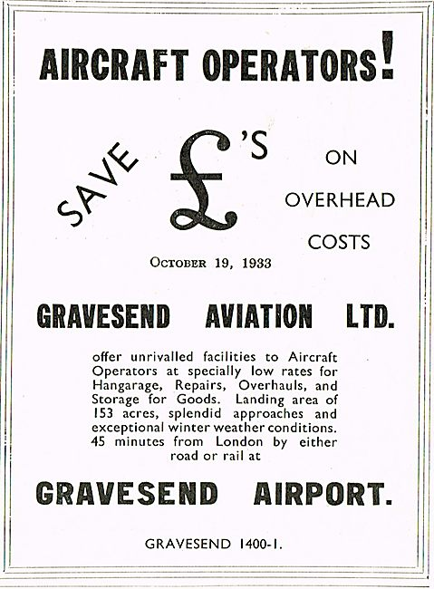Aircraft Operators! Come To Gravesend