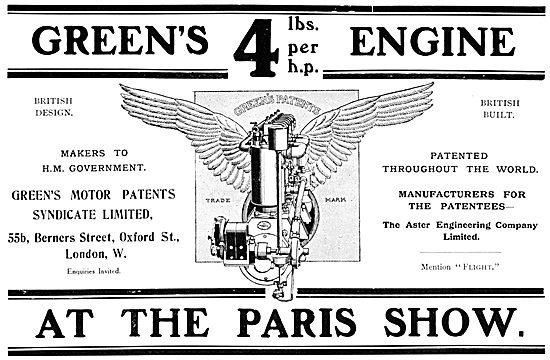 Greens Aeroplane Engines