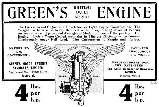 Greens Aeroplane Engines