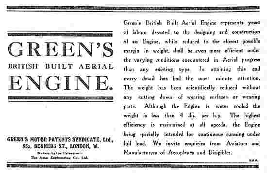 Green's British Built Aerial Engine