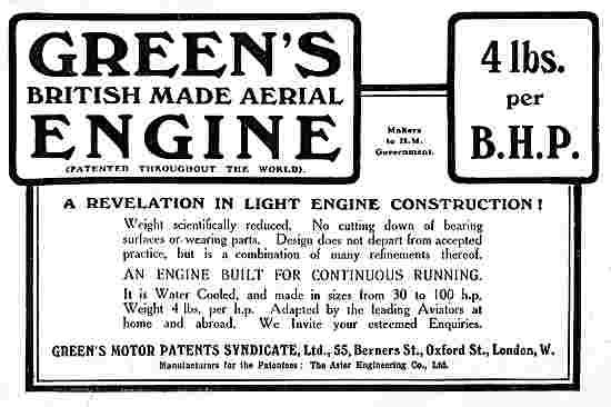 Greens 4lbs Per BHP Aerial Engines