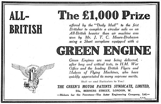 Moore-Brabazon Wins The Daily Mail Prize Using A Green Engine