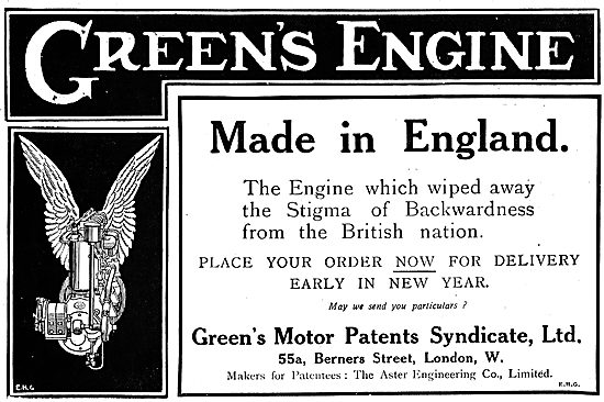 Greens Aeroplane Engines Have Wiped Backwardness From The Nation