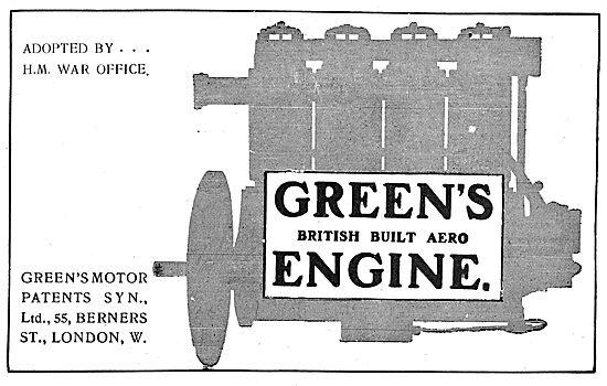 Greens British Built Aero Engines - 55  Berners St London W