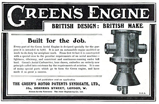Greens Aeroplane Engines Are Perfectly Designed For The Job.