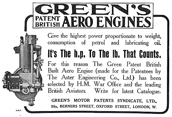 Green's Aero Engines - It's The HP To The LB That Counts