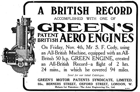 Another British Record Accomplished By Cody With A Greens Engine