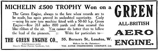The Michelin £500 Trophy Won On A Green Aero Engine