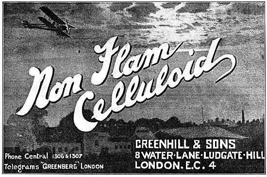 Greenhill Non Flam Celluloid For Aircraft