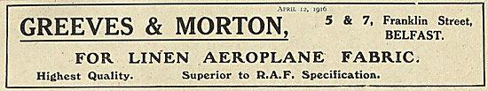 Greeves & Morton Linen Aeroplane Fabric