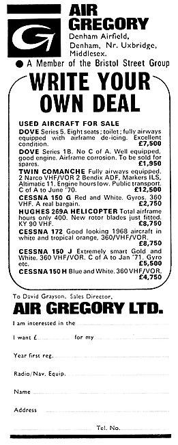 Air Gregory Denham - Aircraft Sales