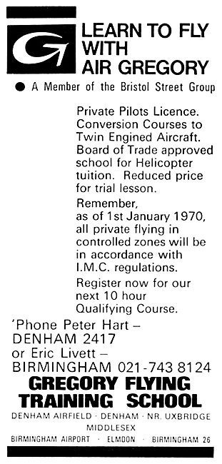 Air Gregory  Denham - Gregory Flying Training School 1969