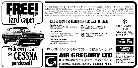 Air Gregory Aircraft Sales & Services - Free Ford Capri 1970