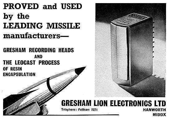 Gresham Leocast Missile Recording Heads