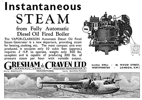 Gresham & Craven VAPOR-CLARKSON Oil Fired Steam Generator