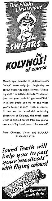 Kolynos Toothpaste 1943 Advert
