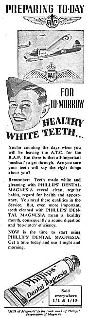 Philips Dental Magnesia Tootpaste. 1944 Advert