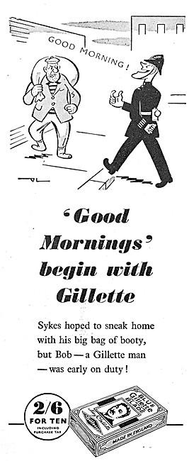Gilette Razor Blades 1946 Advert