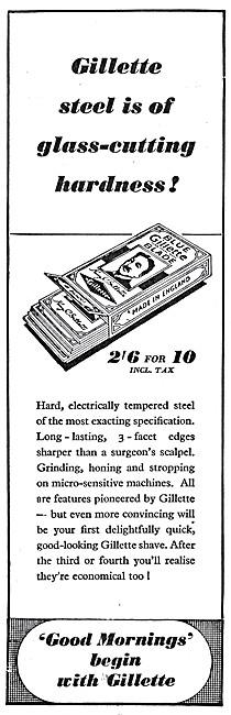 Gilette Razor Blades 1947 Advert