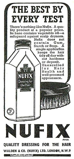 Nufix Hair Dressing 1947