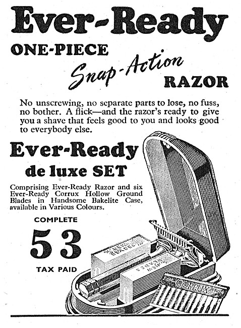 Ever-Ready One Piece Snap-Action Razor 1948