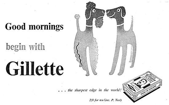 Gilette Razor Blades 1949 Advert