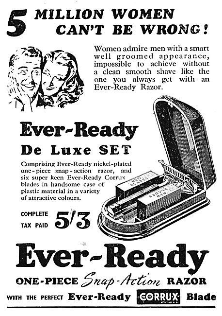 Ever-Ready Razor Blades - Ever-Ready Snap-Action Razor