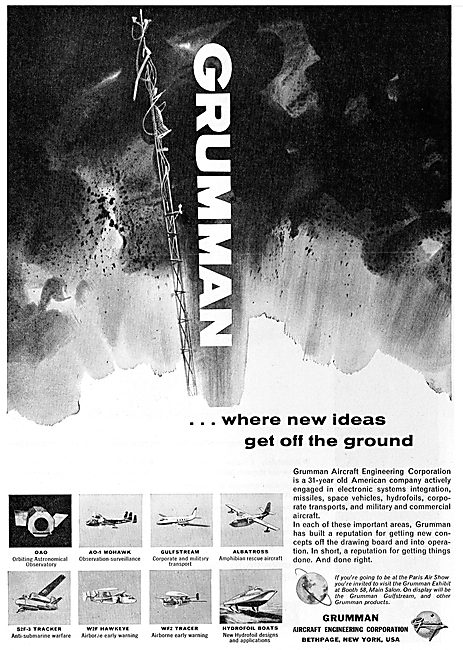 Grumman Aircraft & Space Product Range