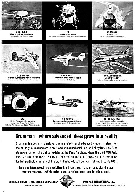 Grumman Aircraft & Aerospace Activities 1963