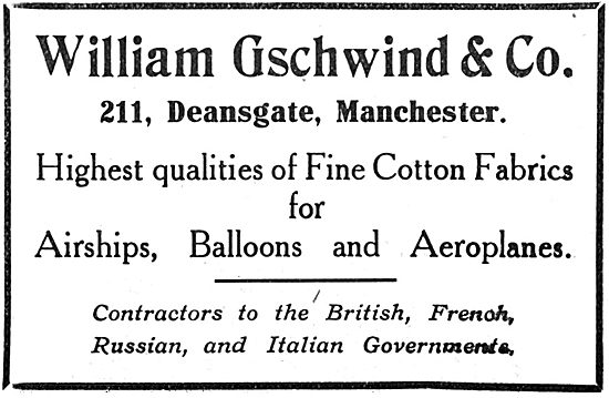 William Gschwind & Co - Fabrics For Airships & Aeroplanes