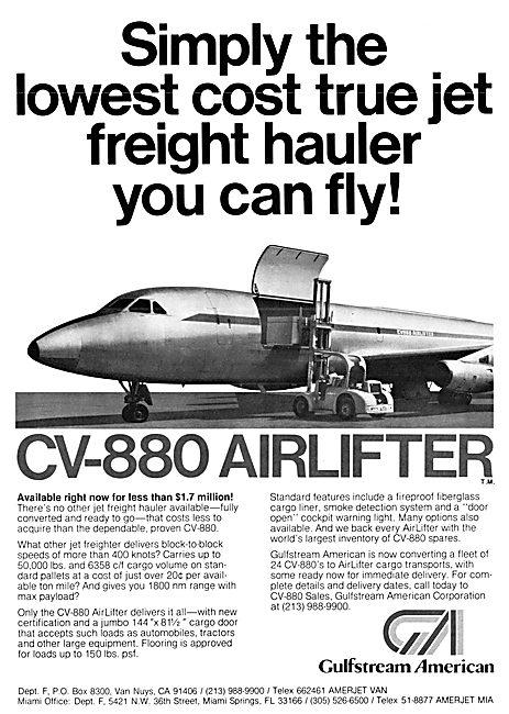 Gulfstream American CV-880 Airlifter