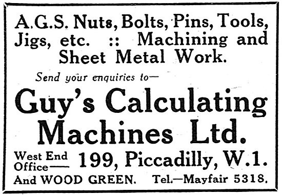 Guys Calculating Machines - AGS Parts, Machining, Sheet Metal