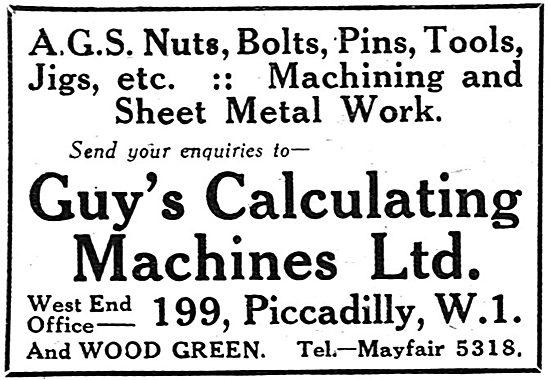 Guys Calculating Machines - AGS Parts, Machining, Sheet Metal