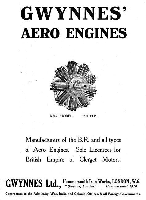 Gwynnes Clerget BR2 250hp  Aero Engines - Hammersmith Iron Works