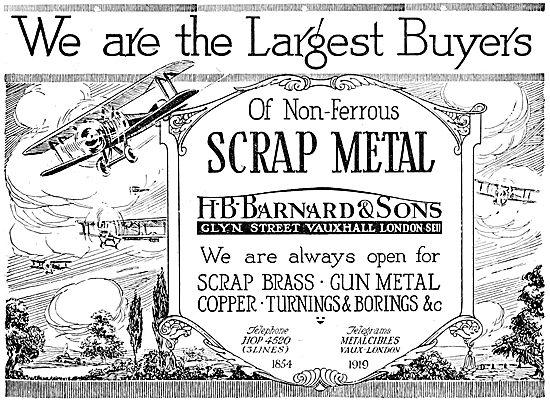 H.B.Barnard & Sons. Buyers & Refiners Of Non-Ferrous Scrap Metal