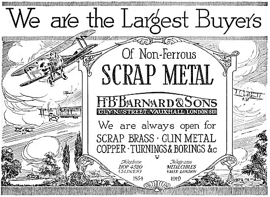 H.B.Barnard & Sons Non-Ferrpus Scrap Metal Specialists