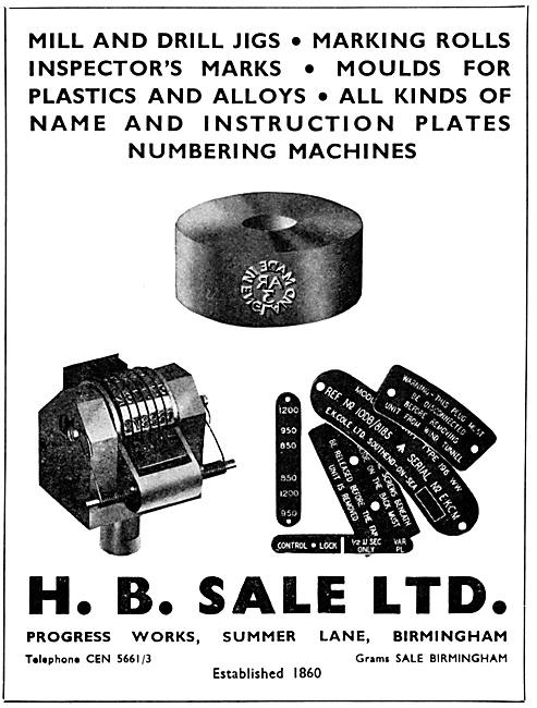 H.B.Sale Mill & Drill Jigs & Plastic Moulds