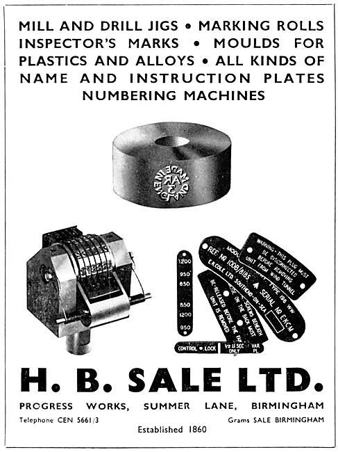 H.B.Sale Sheet Metal Work, Moulds & Name Plates