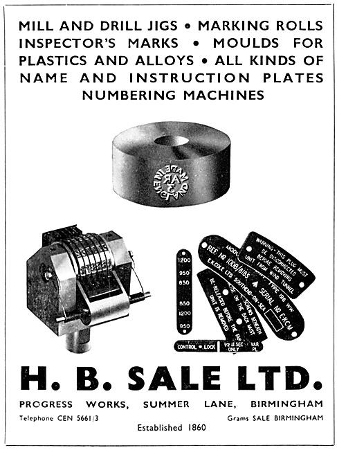 H.B.Sale Sheet Metal Work, Moulds & Name Plates