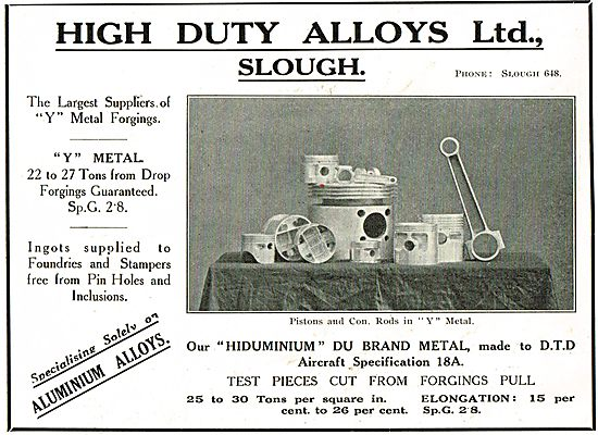 High Duty Alloys - Suppliers Of