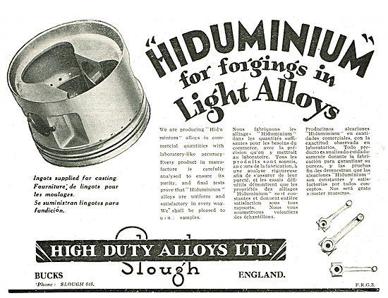 Hiduminium Forging For Light Alloys - High Duty Alloys