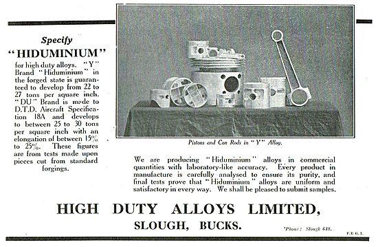 Specify Hiduminium From High Duty Alloys